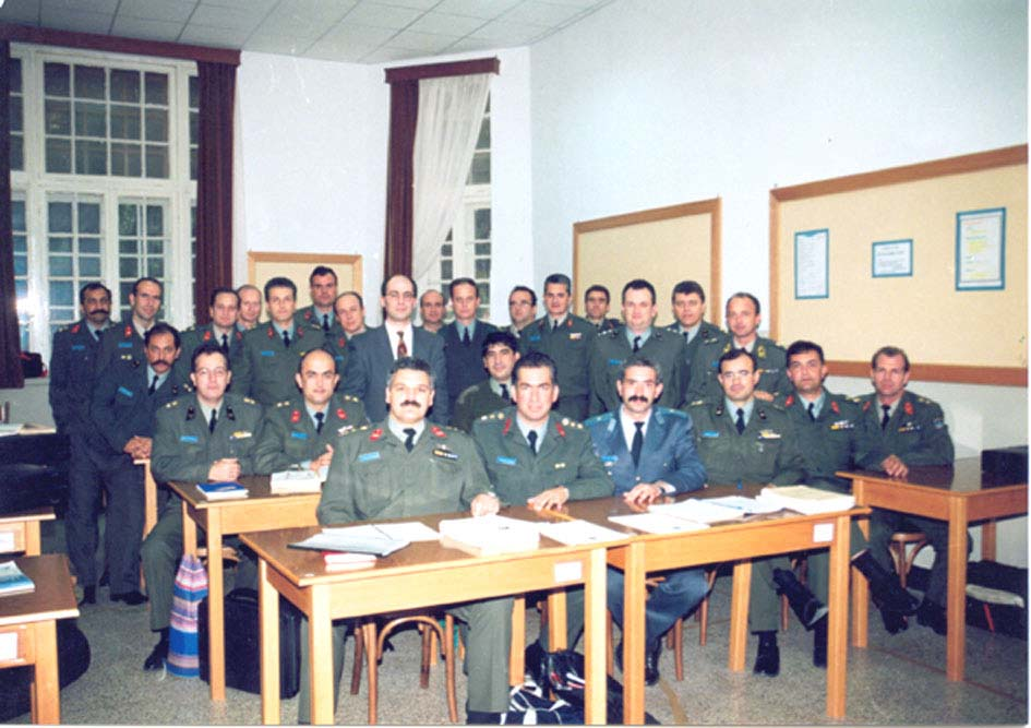 Dr. Theodore Liolios teaching high-ranking Officers (Hellenic Army & NATO allies) at the Special Weapons & Special Operations Chair of the Hellenic Army War College.