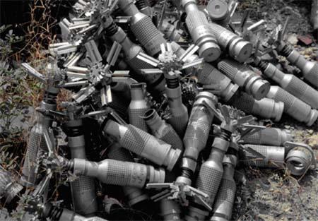 βόμβες διασποράς υποπυρομαχικά βομβίδια