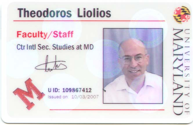 Dr. Theodore Liolios as a visiting scientist at the University of Maryland (CISSM)