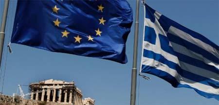 Ελληνική Σημαία Ευρωπαϊκή Σημαία