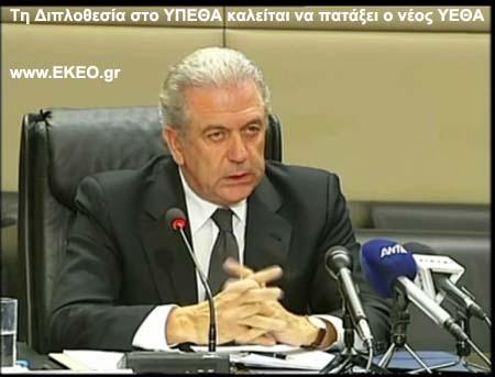 Δημήτρης Αβραμόπουλος ΥΕΘΑ  Διπλοθεσία